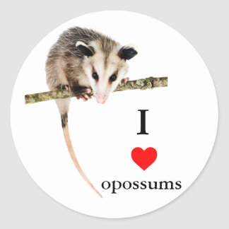 Amo al pegatina de los oposums