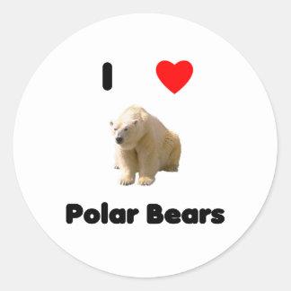 Amo al pegatina de los osos polares