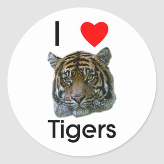Amo al pegatina de los tigres