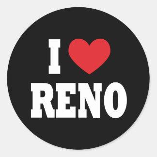 Amo al pegatina de Reno