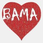Amo al pegatina del corazón de Alabama cerca: da'v