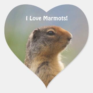 Amo al pegatina del corazón de la foto de la fauna