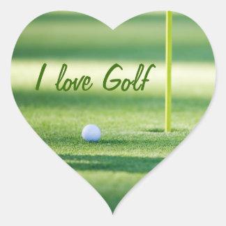 Amo al pegatina del golf