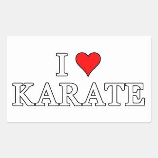 Amo al pegatina del karate