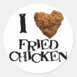 Amo al pegatina del pollo frito
