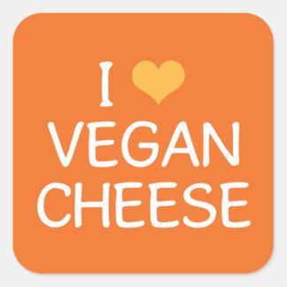 Amo al pegatina del queso del vegano