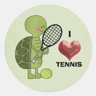 Amo al pegatina del tenis
