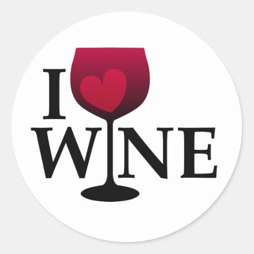 Amo al pegatina del vino