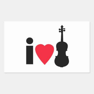 Amo al pegatina del violín