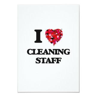 """Amo al personal de limpieza invitación 3.5"""" x 5"""""""