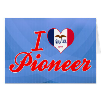 Amo al pionero, Iowa Tarjeta De Felicitación