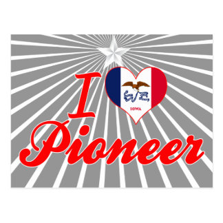 Amo al pionero, Iowa Tarjeta Postal