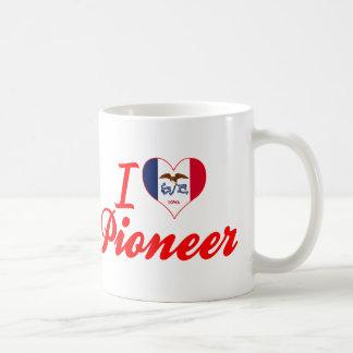Amo al pionero, Iowa Taza Básica Blanca