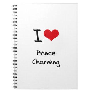 Amo al príncipe el encantar libreta espiral