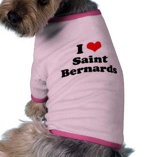 Amo al santo Bernards Camisetas De Perrito