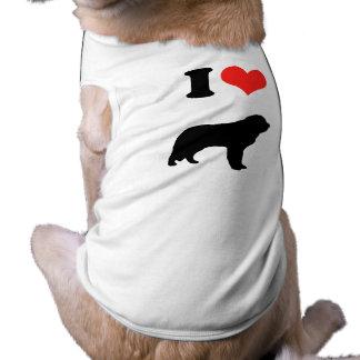 Amo al santo Bernards Ropa Perro