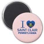 Amo al santo Clair, PA Imán Para Frigorífico