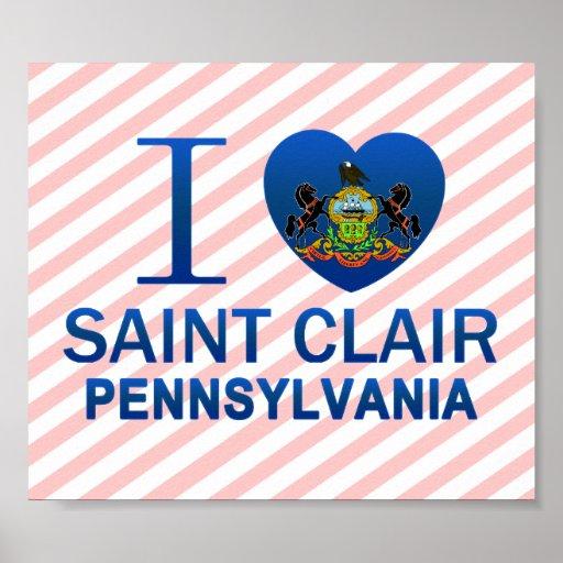 Amo al santo Clair, PA Poster