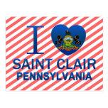 Amo al santo Clair, PA Tarjeta Postal