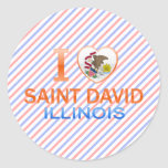 Amo al santo David, IL Pegatina