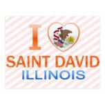Amo al santo David, IL Tarjetas Postales