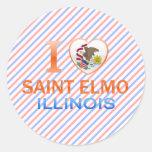 Amo al santo Elmo, IL Pegatina Redonda