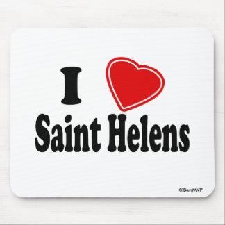 Amo al santo Helens Alfombrillas De Raton