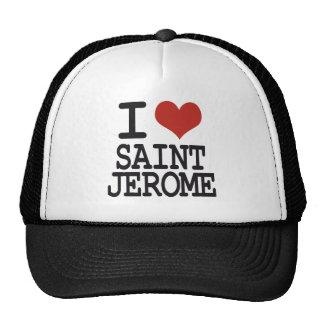 Amo al santo Jérôme Gorro De Camionero