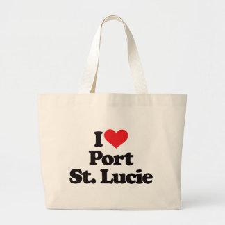 Amo al santo Lucie del puerto Bolsa Tela Grande