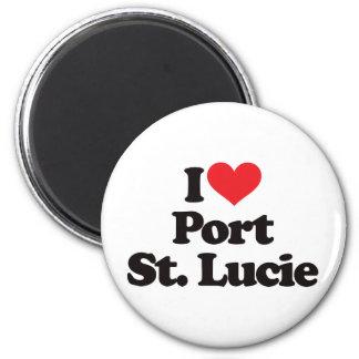 Amo al santo Lucie del puerto Imán Redondo 5 Cm