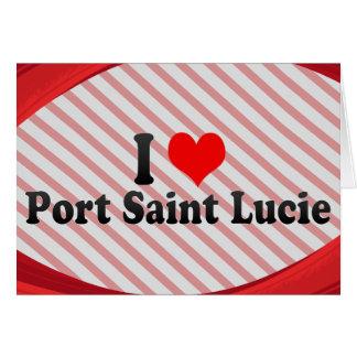 Amo al santo Lucie, Estados Unidos del puerto Tarjeta Pequeña