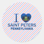 Amo al santo Peters, PA Pegatina Redonda