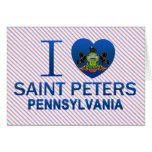 Amo al santo Peters, PA Tarjeta