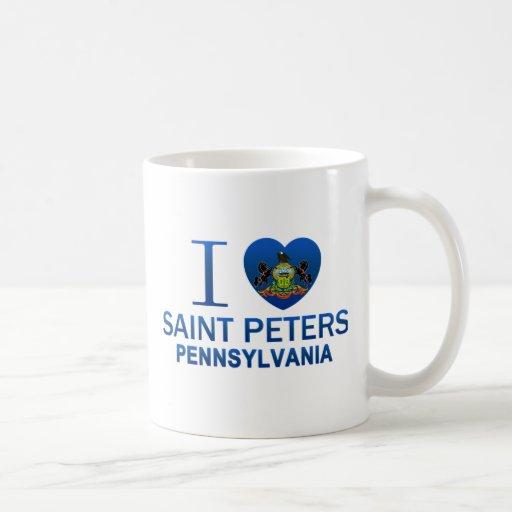 Amo al santo Peters, PA Tazas