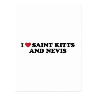Amo al santo San Cristobal y Nevis Tarjetas Postales