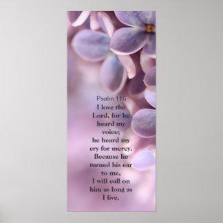 Amo al señor, lila preciosa, poster de la pared