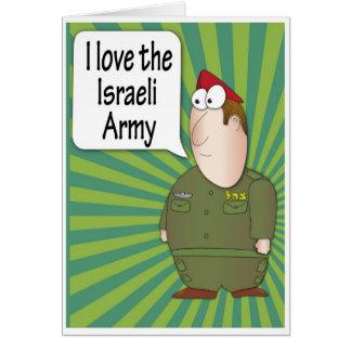 AMO al soldado de la CA de la tarjeta de felicitac