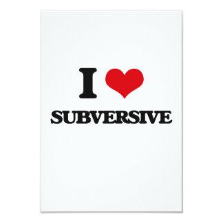 """Amo al Subversive Invitación 3.5"""" X 5"""""""