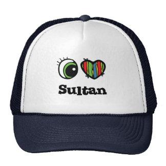 Amo al sultán (del corazón) gorros bordados
