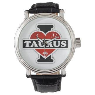 Amo al tauro reloj de mano