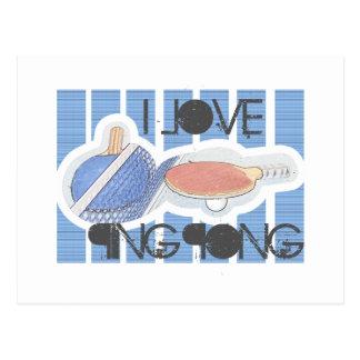 ¡Amo al tipo del ping-pong del ping-pong! Tarjetas Postales