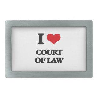 Amo al tribunal de justicia hebillas de cinturón rectangulares