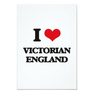 """Amo al Victorian Inglaterra Invitación 3.5"""" X 5"""""""
