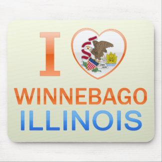 Amo al Winnebago, IL Tapetes De Raton