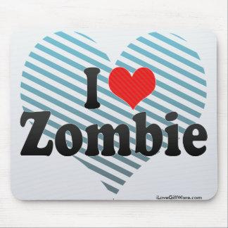 Amo al zombi alfombrillas de ratones