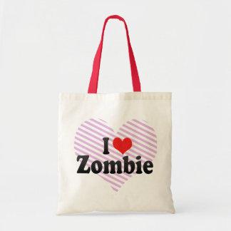 Amo al zombi bolsa de mano