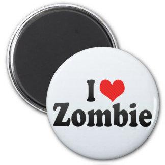 Amo al zombi iman de frigorífico