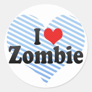 Amo al zombi etiquetas