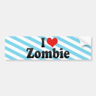 Amo al zombi pegatina de parachoque