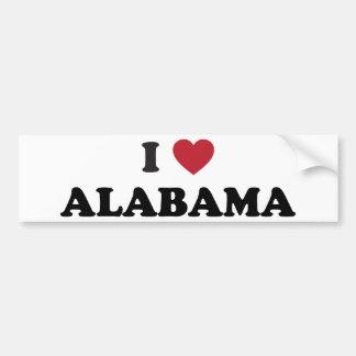 Amo Alabama Pegatina De Parachoque